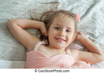 Cute child girl portrait (5 years old)