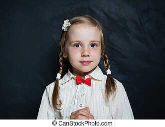 Cute child portrait. Girl 5 years old