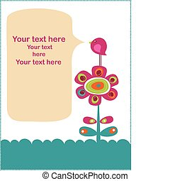 Cute childish card - Cute childish greeting card template