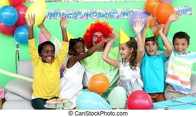 Cute children celebrating