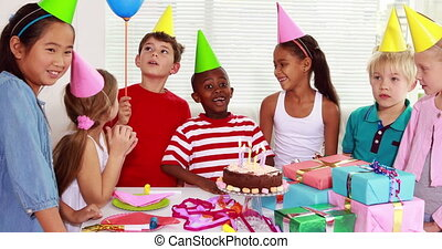 Cute children celebrating