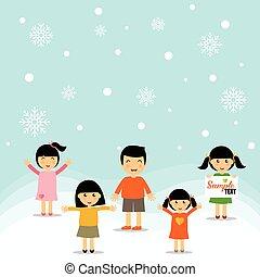 Cute children. Vector Illustration