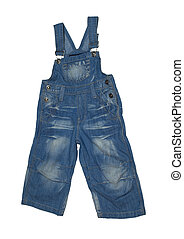 children's dungarees - Cute children's dungarees. Isolated...