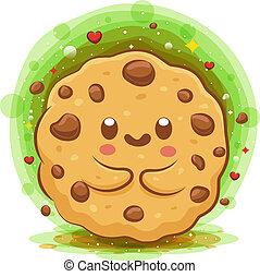 Cute Choco Chip Cookies kawaii cartoon character