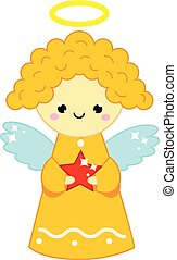 Cute Christmas angel. New Year decorative toy