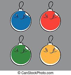Cute Christmas balls