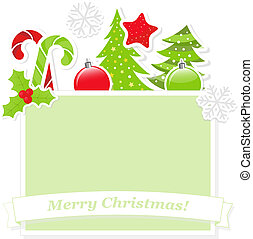Cute Christmas banner - Christmas banner with place for text