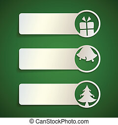 cute christmas banner set