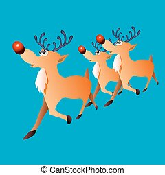 Christmas deer with a red nose