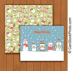 Christmas greeting card with an envelope