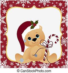 Cute christmas postcard template