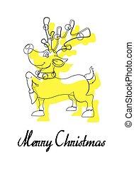 Cute Christmas Reindeer Greeting
