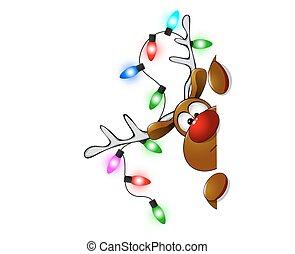 Cute Christmas reindeer Rudolf 3 - Cartoon reindeer on ...