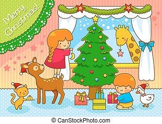 cute Christmas scene