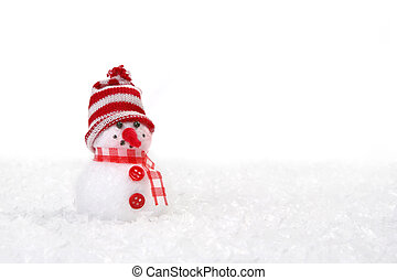 Christmas Snowman With Copyspace - Cute Christmas Snowman...