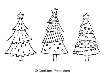 Cute Christmas tree set
