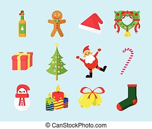 Cute Christmas Vector Icon Pack