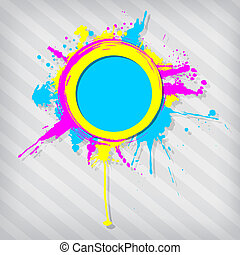 Cute circular grunge frame