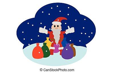 cute, claus, santa