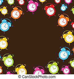 cute clocks alarm with space for copy. vector illustration