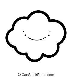 cute cloud cartoon decoration thick line