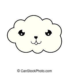 cute cloud kawaii character