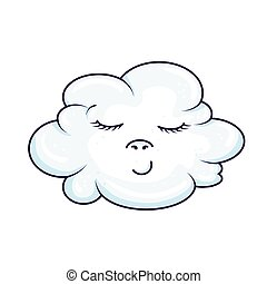 cute cloud kawaii style icon