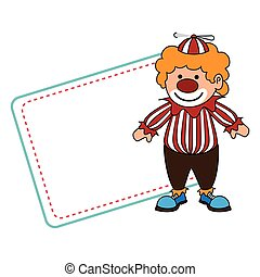 cute clown toy icon