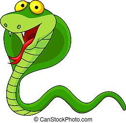 Vector illustration of cute cobra cartoon