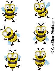 cute, cobrança, abelha