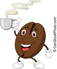 Cute coffee cartoon character