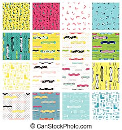 Cute colorful background set for kid web site and printing