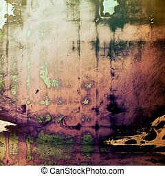 Cute colorful grunge texture or tinted vintage background with different color patterns: yellow (beige); brown; green; purple (violet); black; pink