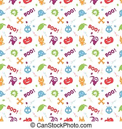 cute colorful hallowen pattern background