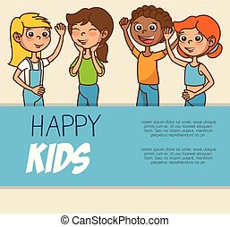 cute colorful kids template