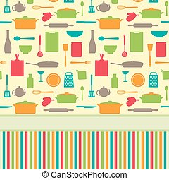 Cute colorful menu vector template