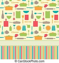 Cute colorful menu vector template