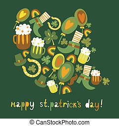 Cute colorful St.Patrick's day background