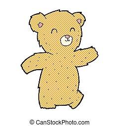 cute comic cartoon teddy bear