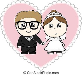 cute couple bride and groom