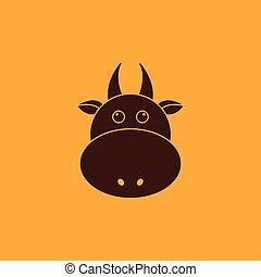 Cute cow Face
