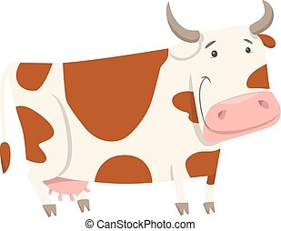cute cow farm animal character