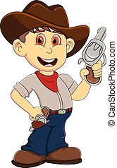 Cute Cowboy cartoon