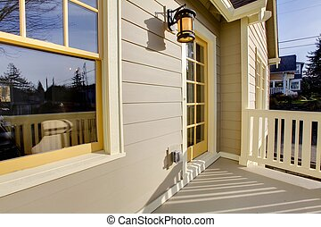Cute craftsman style home with unique colot combination -...