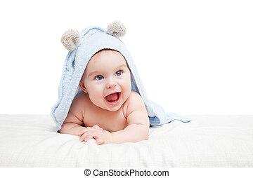 Cute crawling baby