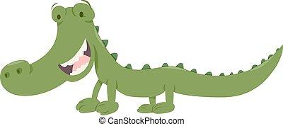 cute crocodile animal character