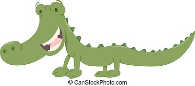 cute crocodile animal character