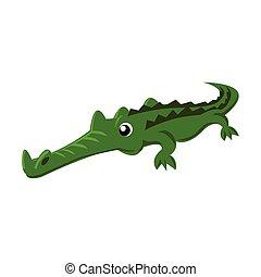 cute crocodile color illustration design