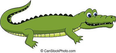 Cute Crocodile walking