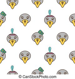 Cute crow seamless baby pattern.